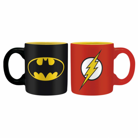 DC COMICS 2 db-os mini bögre szett 110 ml - Batman & Flash