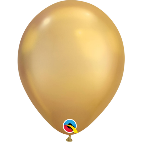 11 inch-es Chrome Gold - Arany Kerek Lufi (6 db/csomag)